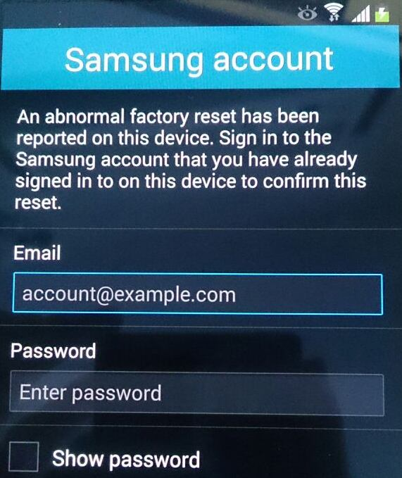 how to change samsung account password on phone